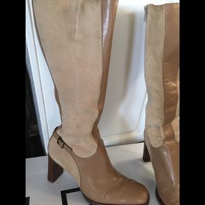 Shoes - 💥suede/leather boot 3 inch heels